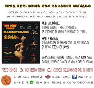 CENA EXCLUSIVA CON CABARET PRIVADO