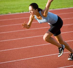 grupo de aficionados al running