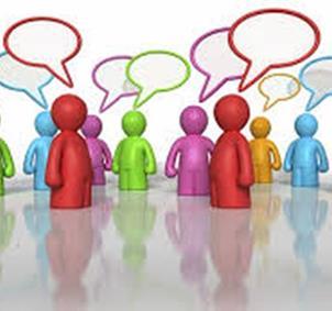 Grupo de conversación por Internet desde casa
