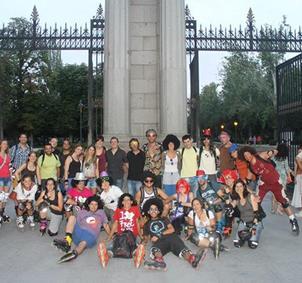 Grupo de patinadores