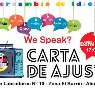 INTERCAMBIO DE IDIOMAS CARTA DE AJUSTE (ALICANTE)