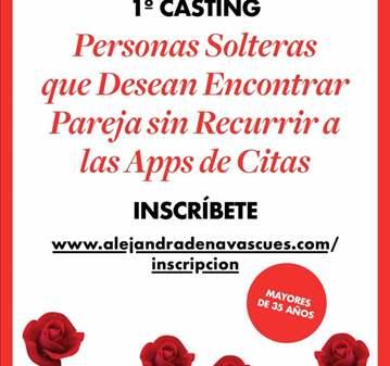 EVENTO: 1º CASTING PERSONAS SOLTERAS