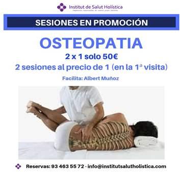 TERAPIA: 2 X 1 DOS SESIONES DE OSTEOPATIA AL PR...