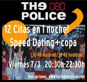SPEED DATING (MUJERES 36-46/ HOMBRES 38-48)