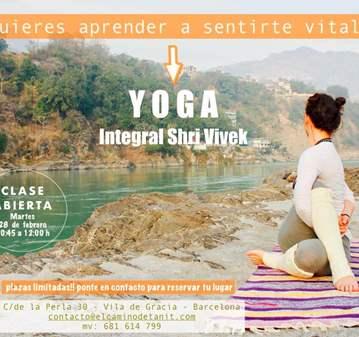 CLASE: ABIERTA Y GRATUITA DE YOGA INTEGRAL (SHR...