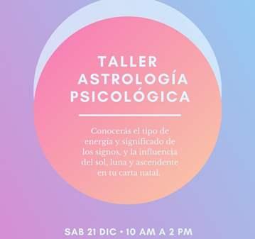 TALLER: ACTIVIDAD GRATUITA  ASTROLOGIA PSICOLOGICA