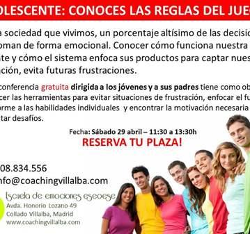 TALLER: ADOLESCENTES: CONOCES LAS REGLAS DEL JU...