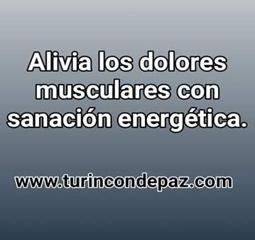 TERAPIA: ALIVIA DOLORES MUSCULARES CON SANACIÓN...