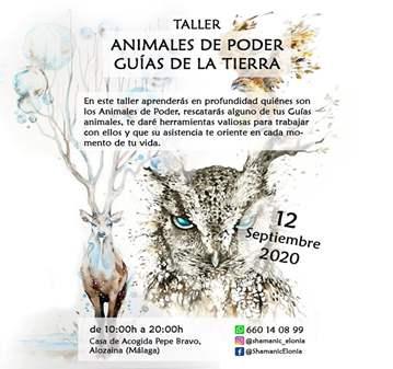 TALLER: ANIMALES DE PODER, GUÍAS DE LA TIERRA