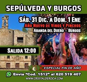 EXCURSIÓN: AÑO NUEVO EN SEPULVEDA - VINOS/PINCH...