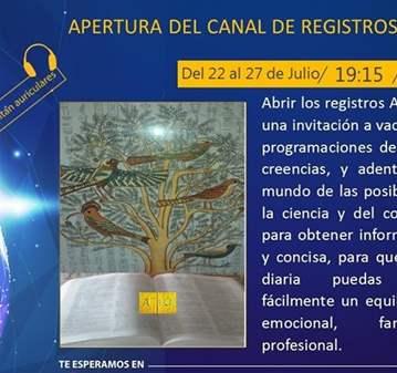 CURSO: APERTURA DEL CANAL DE REGISTROS AKÁSHICOS