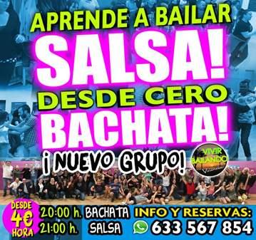 CLASE: APRENDE A BAILAR BACHATA Y SALSA DESDE CERO