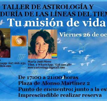 TALLER: MISIÓN DE VIDA: ASTROLOGÍA Y LÍNEAS DEL...