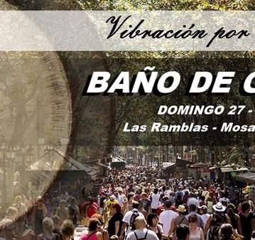 EVENTO: BAÑO DE GONG POR LAS VICTIMAS DEL ATENTADO