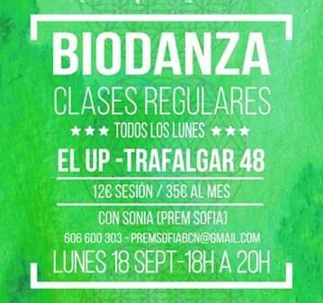 BIODANZA - CLASES REGULARES TODOS LOS LUNES