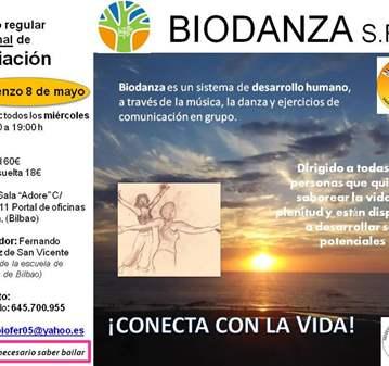 CLASE: BIODANZA, NUEVO GRUPO DE INICIACIÓN EN B...