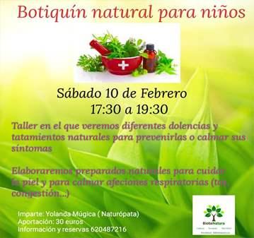 TALLER: BOTIQUÍN NATURAL PARA NIÑOS