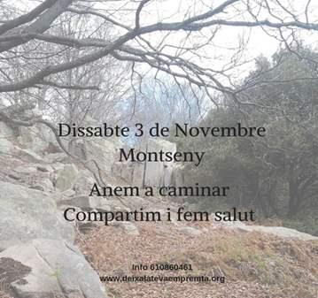 SALIDA: CAMINAMOS POR EL MONTSENY