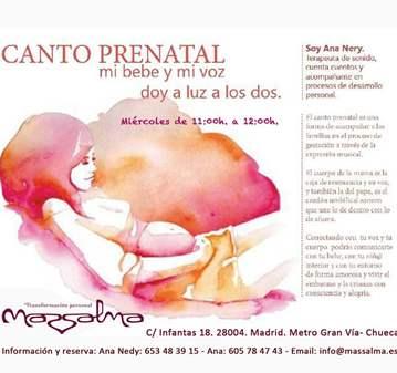 CLASE: CANTO PRENATAL
