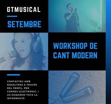 CURSO: CAP DE SETMANA WORKSHOP DE CANT MODERN