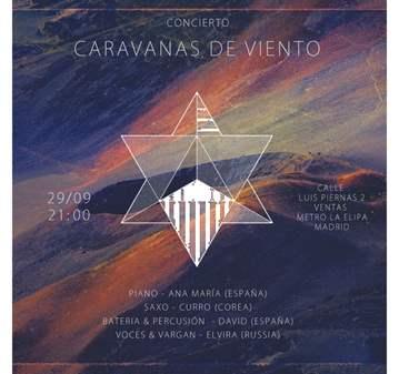 CONCIERTO: CARAVANAS DE VIENTO: MÚSICA DEL ALMA