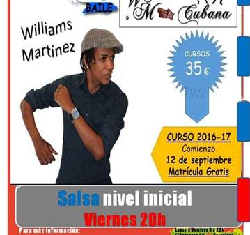 CURSO: CASINO CUBANO (SALSA CUBANA) CON WILLIAM...