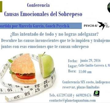CONFERENCIA: CAUSAS EMOCIONALES DEL SOBREPESO