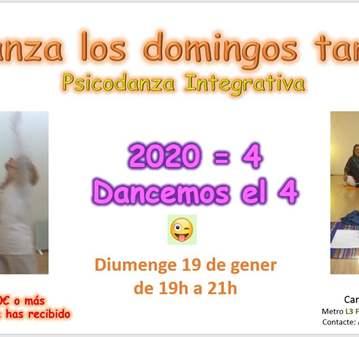 CLASE: PSICODANZA: 2020 = 4, DANCEMOS EL 4
