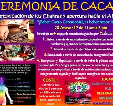 TALLER: CEREMONIA DE CACAO TEMA DESINTOXICACIÓN...
