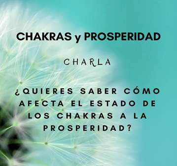 CHARLA: CHAKRAS Y PROSPERIDAD