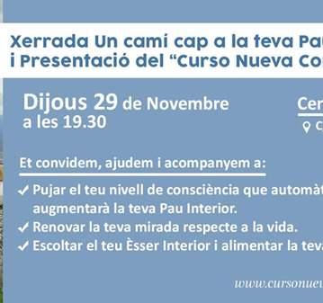 CHARLA GRATUITA: CURSO NUEVA CONSCIENCIA