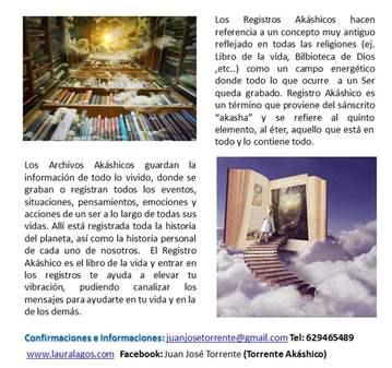 CONFERENCIA: CHARLA GRATUITA DE REGISTROS AKÁSH...