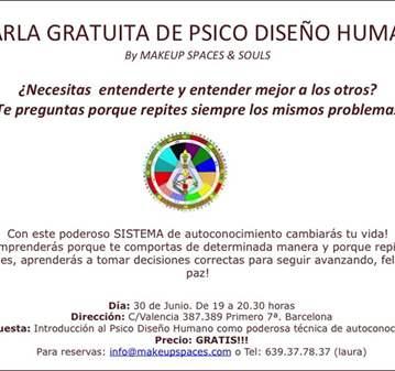 CHARLA GRATUITA  INICIACIÓN AL PSICO-DISEÑO HUMANO