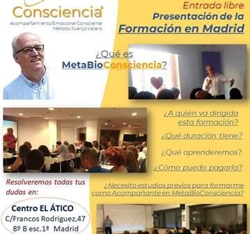 CHARLA INFORMATIVA FORMACIÓN EN METABIOCONSCIENCIA