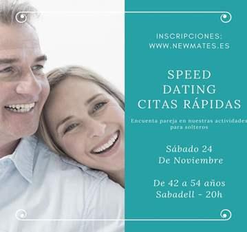 CITAS DE 7 MINUTOS PARA SOLTEROS DE 42 A 54 AÑOS