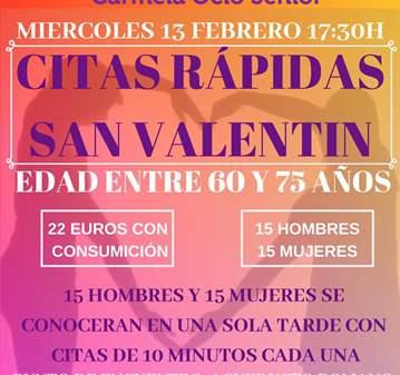 CHARLA: CITAS RÁPIDA SAN VALENTIN (60-75 AÑOS) ...
