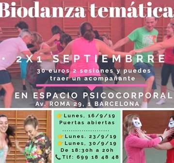 CLASE DE BIODANZA ACTIVIDAD GRATUITA
