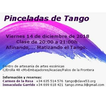 CLASE DE TANGO: AFINANDO,... MATIZANDO TU TANGO,