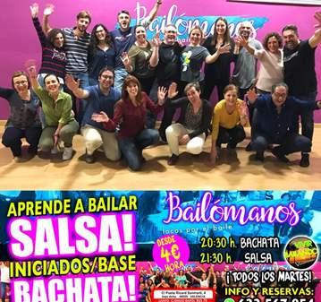CLASES DE BACHATA Y SALSA NIVEL INICIADOS