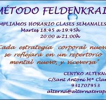 CLASES SEMANALES FELDENKRAIS 1ª CLASE GRATUITA