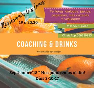 SESIÓN: COACHING & DRINKS. TU MOMENTO CRECIMIENTO