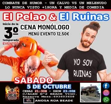 EVENTO: COMBATE DE HUMOR ENTRE EL PELAO Y EL RU...