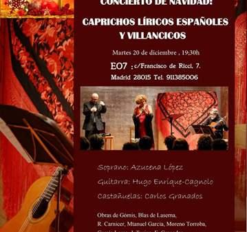 CONCIERTO DE NAVIDAD: CAPRICHOS Y LÍRICOS ESPAÑA