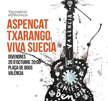 CONCIERTO TXARANGO, ASPENCAT Y VIVA SUECIA 20OCT