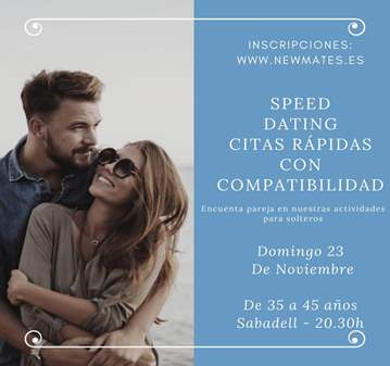 SPEED DATING CON COMPATIBILIDAD 34 A 44