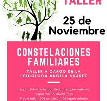 TALLER: CONSTELACIONES FAMILIARES REUS