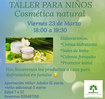 TALLER: COSMÉTICA NATUTAL PARA NIÑOS