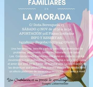 TERAPIA: COSTELACIONES FAMILIARES EN LA MORADA