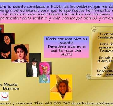 SESIÓN: CUENTOS CREATIVOS/TEATRALIZADOS A TU ME...