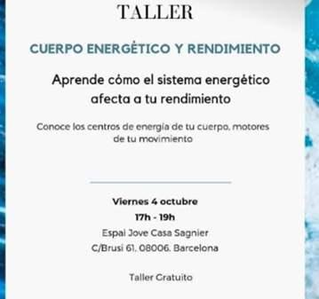 TALLER: CUERPO ENERGÉTICO Y RENDIMIENTO